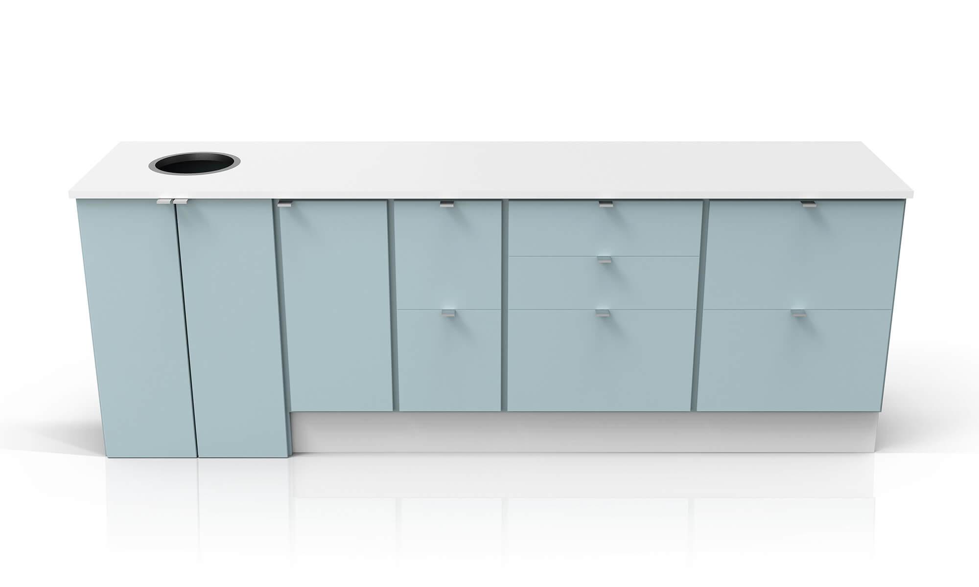 miljöstation miljödisk recycling källsortering waste bin station trece kontor office