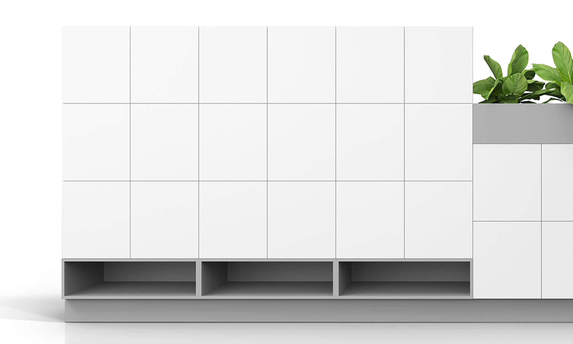 trece förvaringsserie förvaringsfack space aktivitetsbaseratkontor storage lockers förvaringsskåp