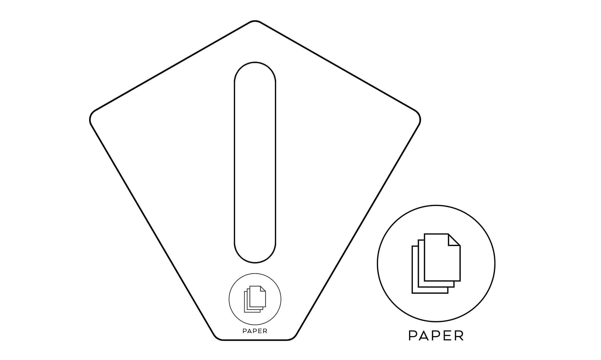 källsortering papper kite recycling paper