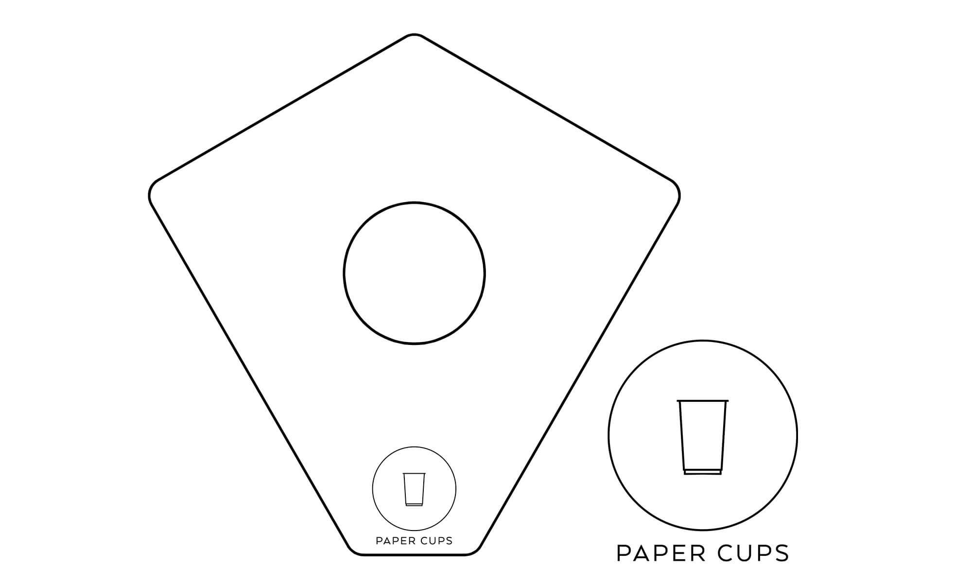 källsortering pappers muggar kite recycling paper cups