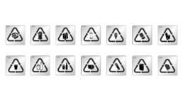 symboler sortering källsorteringssymboler kontor