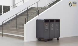 Cloud recycling källsortering waste bin trece kontor
