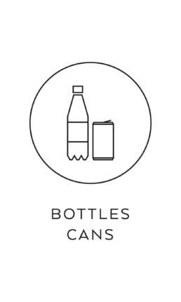 symbol källsortering PET burkar plastflaskor återvinning