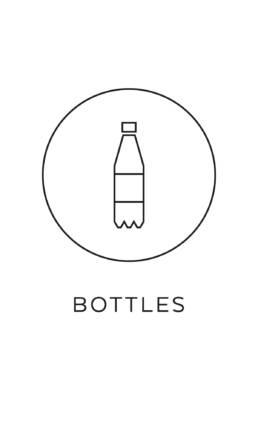 symbol källsortering PET plastflaskor återvinning