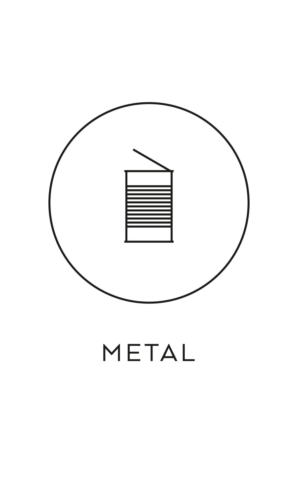 symbol källsortering metall konservburkar återvinning