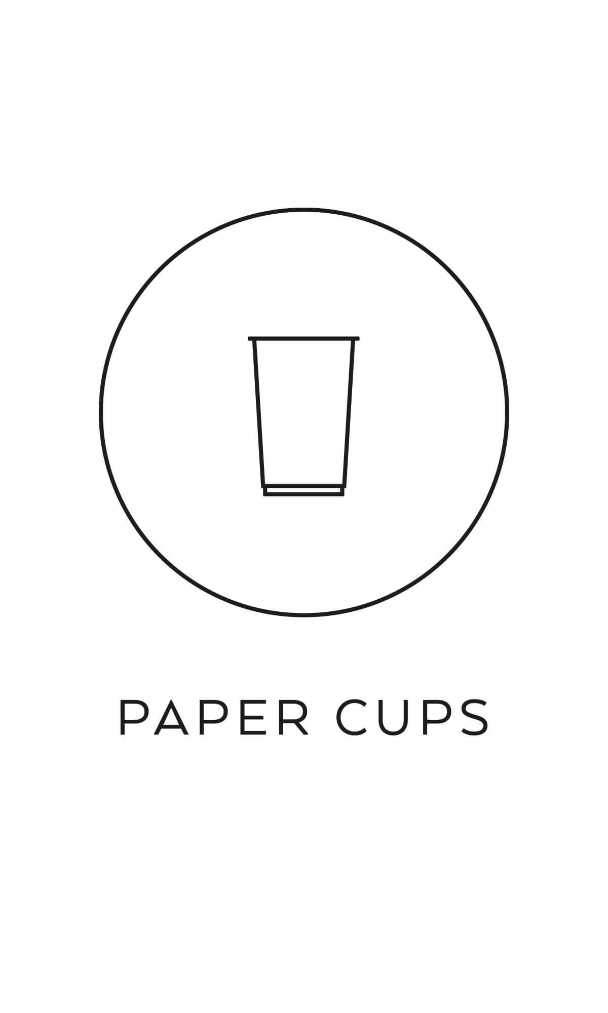 symbol källsortering pappersmuggar återvinning