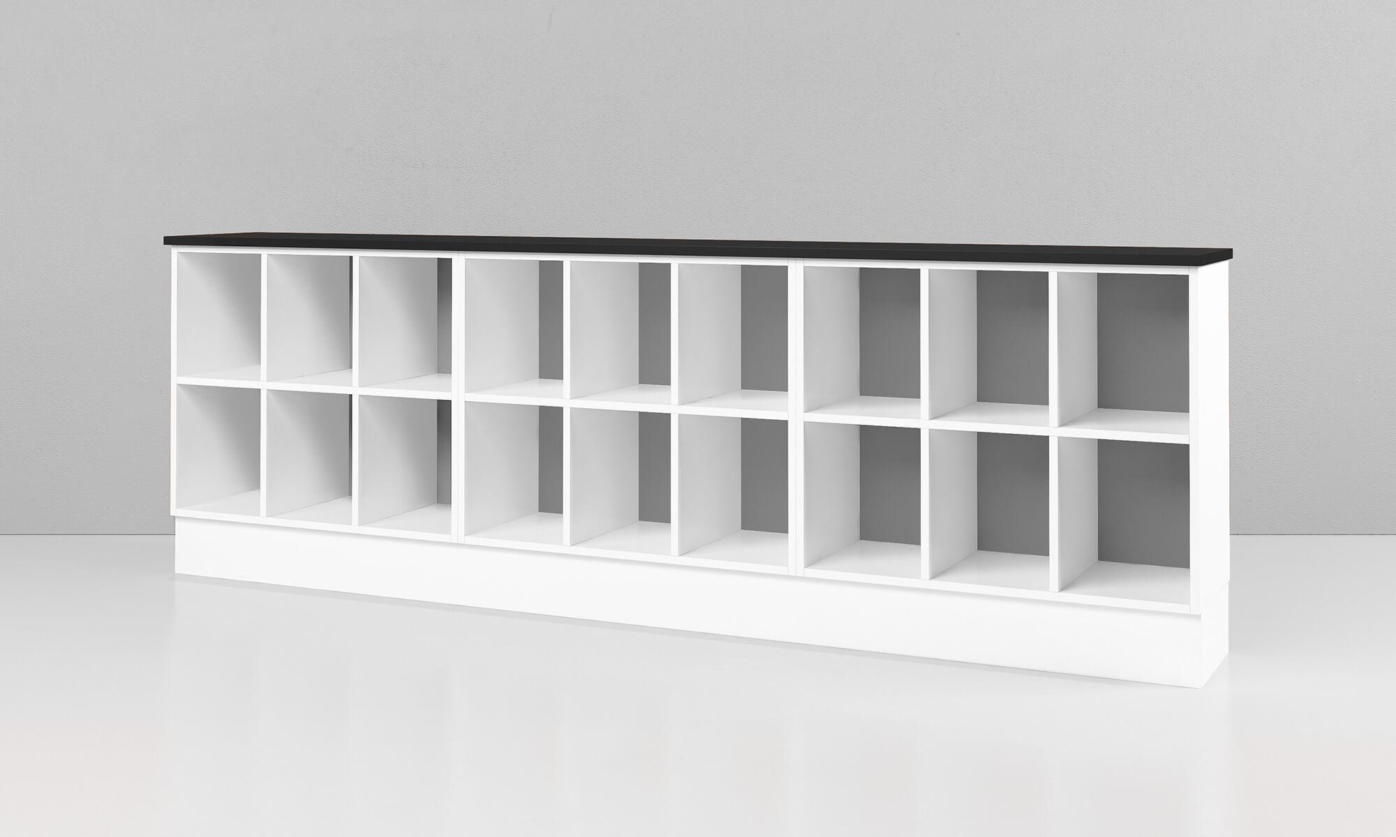 trece kombihyllan hylla förvaring kontor möbelfakta office furniture shelves