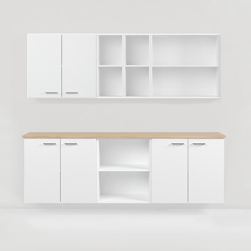 vägghyllor väggskåp förvaring storage möbelfakta kontorsförvaring office storage trece shelves kontorsförvaring