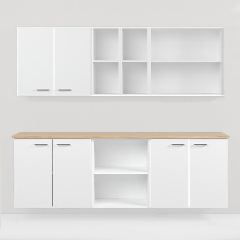 vägghylla väggskåp förvaring storage möbelfakta kontorsförvaring office storage trece shelves kontorsförvaring
