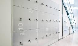 aker solutions personlig förvaring moderna kontor referensprojekt kontorsförvaring förvaringssystem trece
