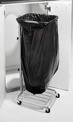 miljöstationer miljödiskar recycling källsortering waste bin station säckhållare