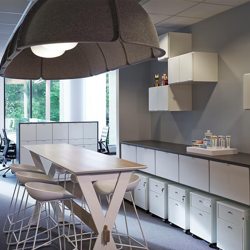 GSK referensprojekt kontorsförvaring kontor förvaringslösningar