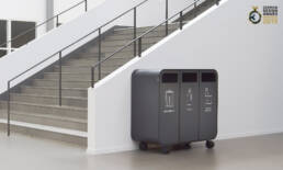 Cloud recycling källsortering waste bin trece kontor
