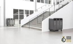 mobil källsortering kattegattsgymnasium papperskorg recycling offentliga miljöer GDA 2019
