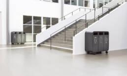 mobil källsortering kattegattsgymnasium papperskorg recycling offentliga miljöer