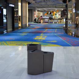 Mall of Scandinavia kite papperskorg källsortering