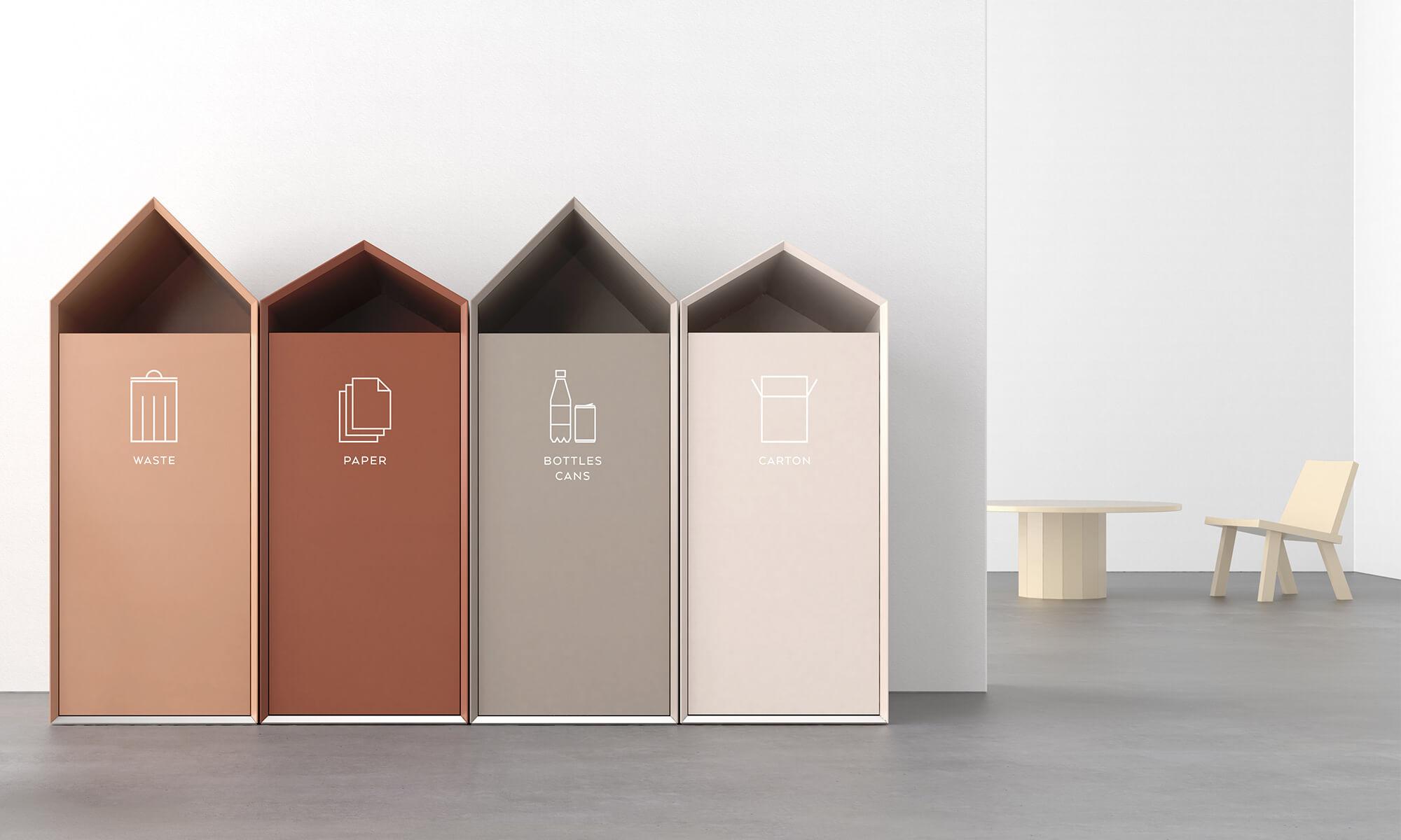 Ridge trece källsortering recycling bin studio doms papperskorg kontor