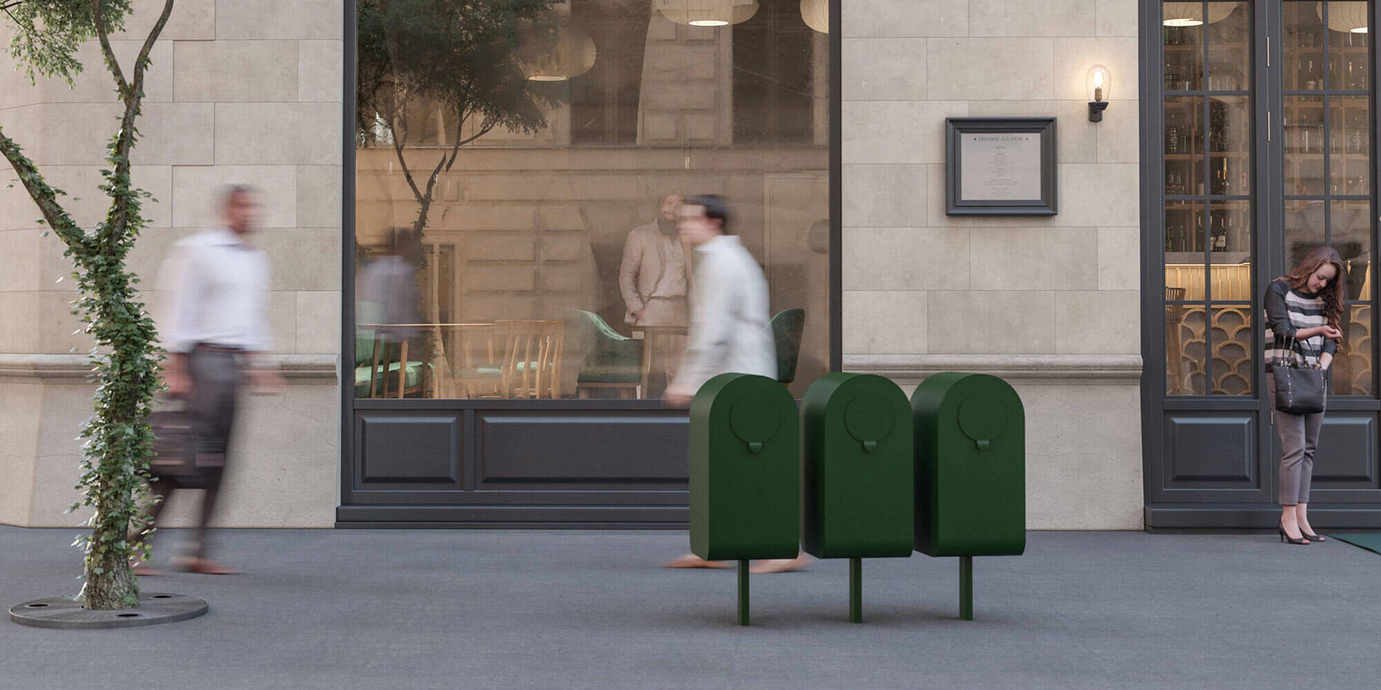popsicle papperskorg utomhus offentliga miljöer källsortering trece jangir maddadi