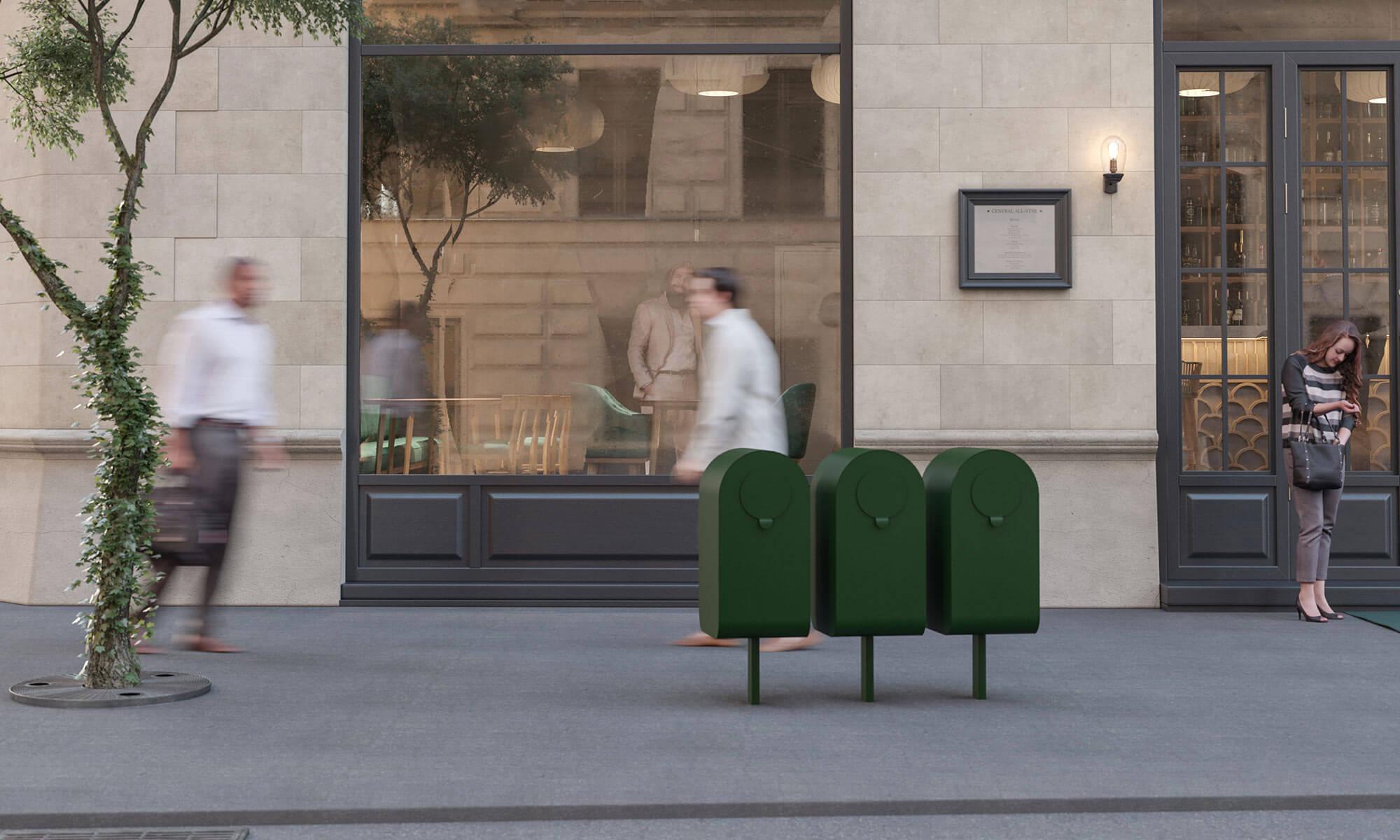 popsicle waste bin outdoors public environments recycling trece jangir maddadi