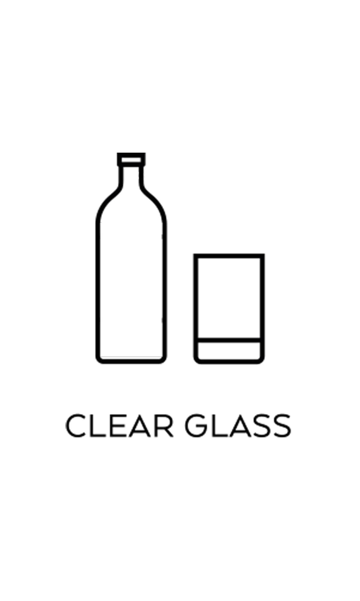 l källsortering ofärgat glas symbol miljö återvinning