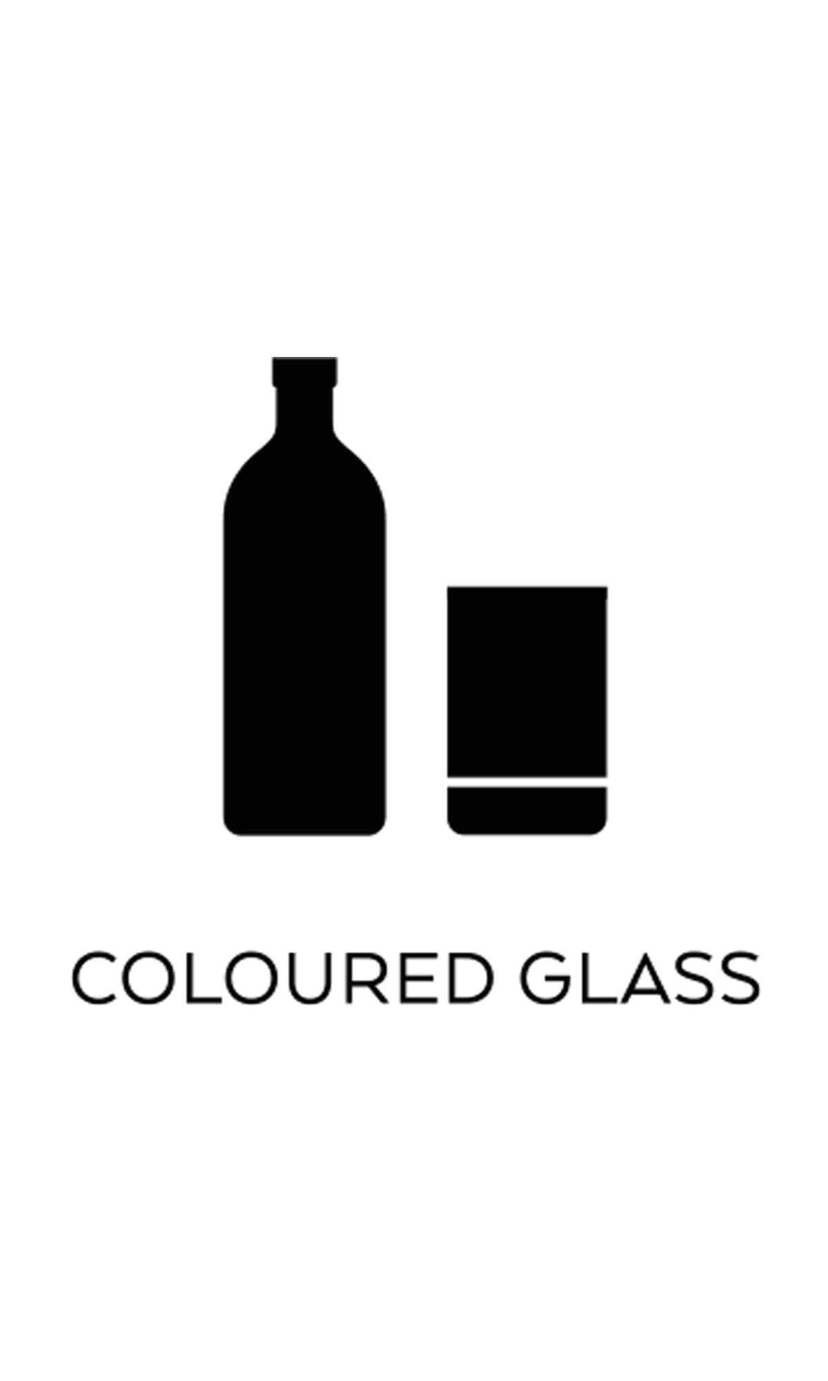 l källsortering färgat glas symbol miljö återvinning