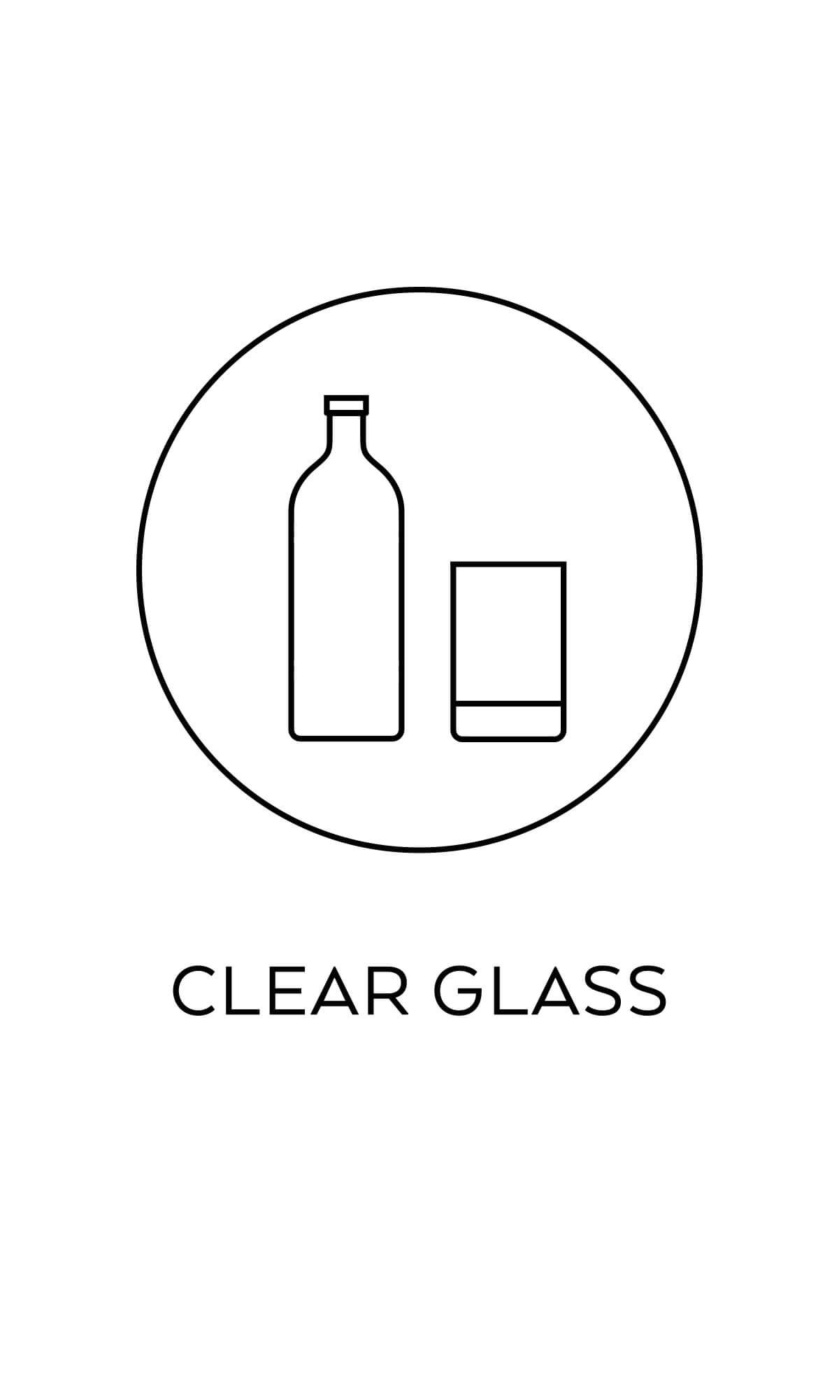 symbol källsortering ofärgat glas återvinning miljösymboler