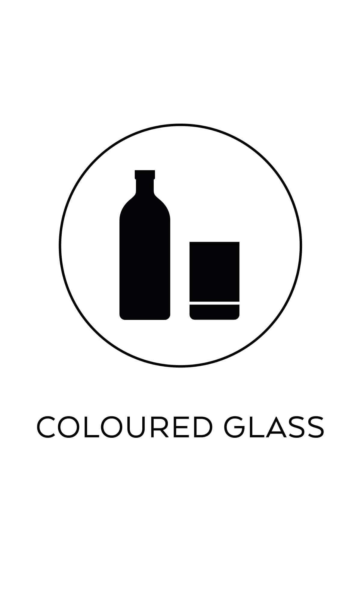symbol källsortering färgat glas återvinning miljösymboler